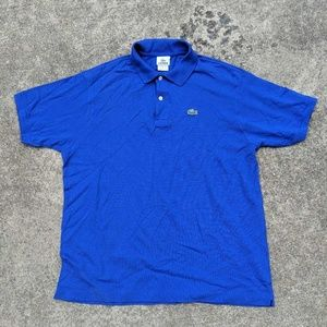 Lacoste Mens Polo Shirt Cobalt Blue S/S Sz XL 7